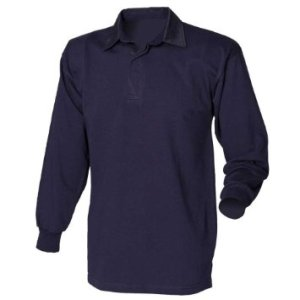 budget Casino Royale Long Sleeve Blue Polo